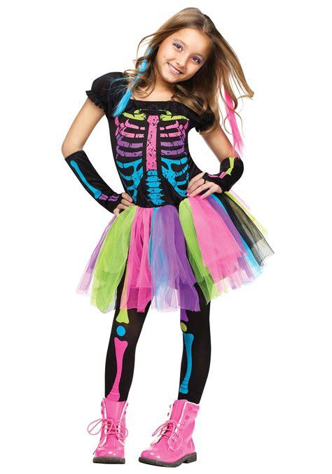 girls funky punky bones costume