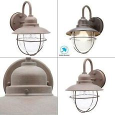 hton bay 1 light brick 1 light brick patina outdoor cottage wall lantern sconce exterior hton bay 725916821821 ebay