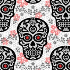 sugar skull damask wallpaper mariafaithgarcia spoonflower - Sugar Skull Damask Wallpaper