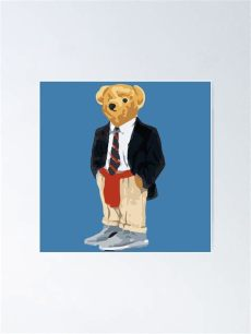 yeezy bear poster quot yeezy teddy quot poster by sabrinasteckk redbubble