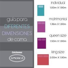 colch 243 n am 233 rica modelo duncan size 4 379 00 en mercado libre - Colchon Queen Size Tamano