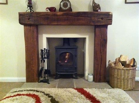 solid aged french oak wood fireplace rustic fire