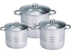 amazon juego de ollas acero inoxidable pack de ollas de acero inoxidable mate de 6 5 a 10 litros
