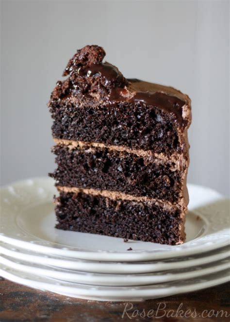 bowl chocolate cake scratch rose bakes