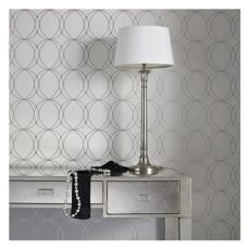 darcy pearl circular geometric modern wallcovering graham brown darcy pearl 33 x 20 5 quot geometric wallpaper white and silver wallpaper silver
