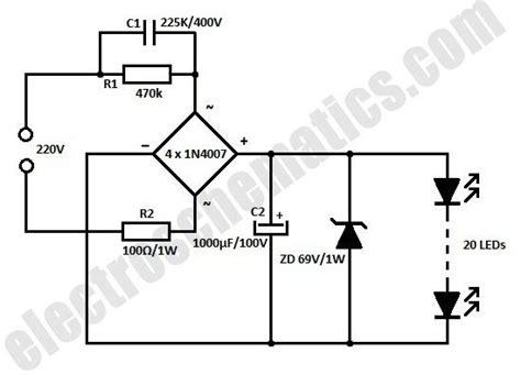 white led flood circuit schematic электроника