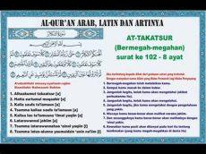 at takasur latin surah at takatsur arab dan artinya islamic information islamic information