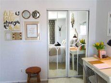 ideas to update mirrored closet doors mirrored closet door makeover
