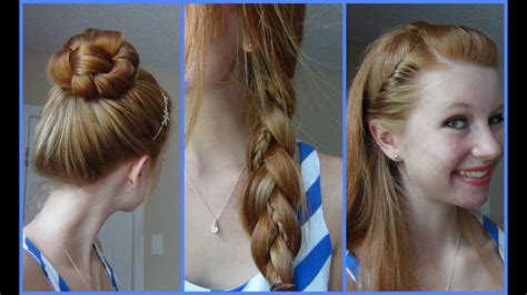 3 simple quick easy school hairstyles youtube