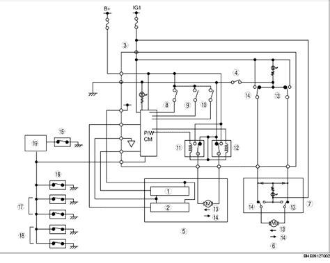 power window system wiring diagram
