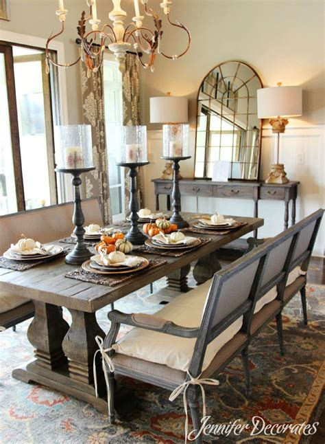 fall table decorations easy affordable dining room table