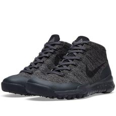 nike acg capsule nike flyknit trainer chukka sfb acg sp black black anthracite