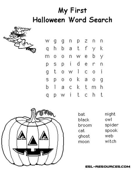 studying halloween wordsearch