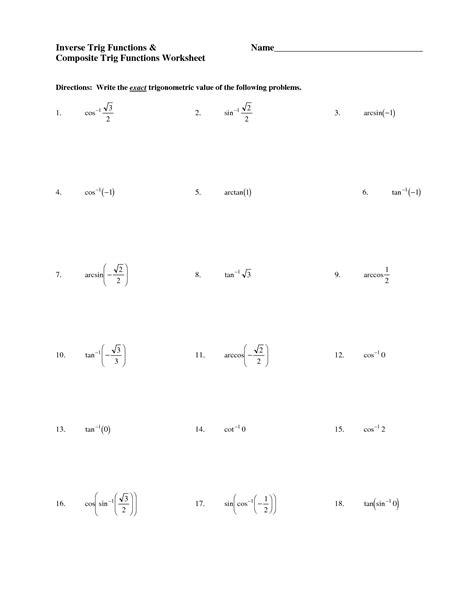 14 images trigonometry trig worksheets free printable trigonometry
