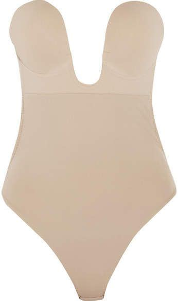 fashion forms plunge adhesive backless bodysuit neutral fashion