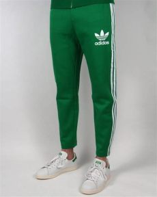 green adidas tracksuit bottoms adidas originals 7 8 length track green white bottoms mens