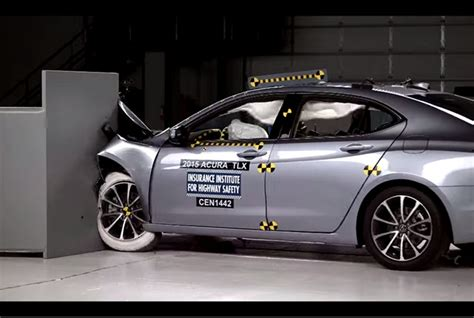 video acura tlx attracts top iihs safety rating