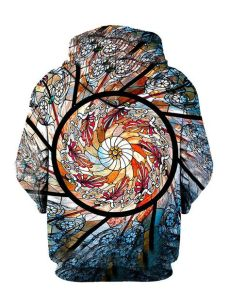 tde hoodie stained glass stained glass pullover hoodie edm festival style fashion gratefullydyed