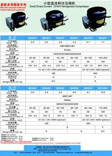 tabla tecnica de compresores compresor para heladera 12v 24v bd52y 65w r134a 3 6cm3 electroimpulso