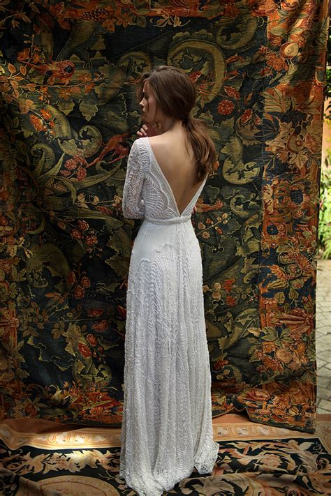 white bohemian lili hod 2016 wedding dresses modern