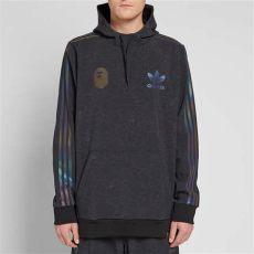 bape x adidas tech hoodie black adidas consortium x bape tech hoody black end