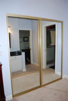 ideas to update mirrored closet doors kara s korner closet part 2 door makeover