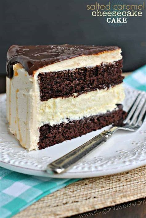 salted caramel chocolate cheesecake cake shugary sweets