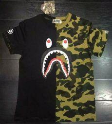 bape shirt shark s casual shark t shirt camo bape pattern costumes a bathing ape ebay