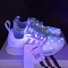 adidas louis vuitton shoes glow in the dark finished ready to ship painted on adidas nmd lv customized glow in the selling kicks