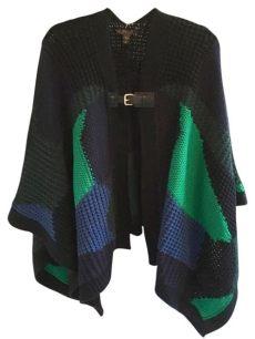 louis vuitton poncho cape louis vuitton black green blue pre fall 2014 poncho cape size os one size tradesy