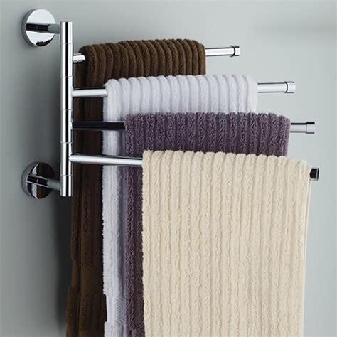 stainless steel towel bar rotating towel rack bathroom