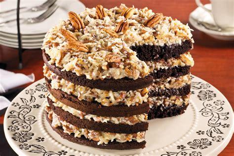 sky high german chocolate cake mrfood