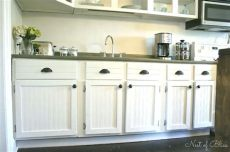 how to reface kitchen cabinets with beadboard budget cabinet makeover diy kitchen cabinets wainscoting kitchen wallpaper cabinets