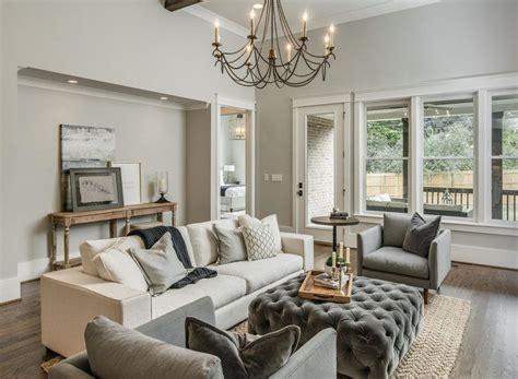 repose gray monochromatic living room domaine development photography