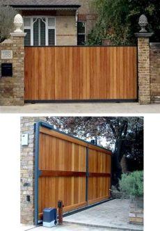 how to build a timber sliding gate henbury bespoke automatic sliding gate in 2019 sliding fence gate sliding gate driveway gate