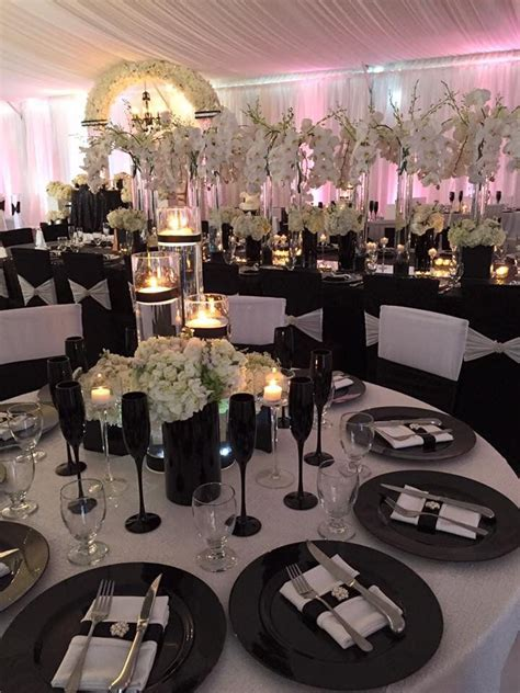 elegant black white wedding black wedding decorations wedding