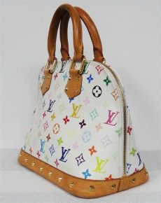 louis vuitton white multicolor purse louis vuitton white multicolor monogram canvas alma leather bag purse