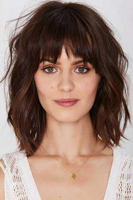21 medium length layered haircuts bangs hairstyles haircuts