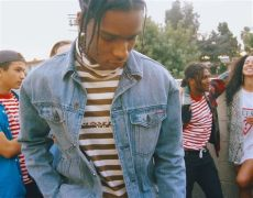 guess asap rocky denim jacket asap rocky styles in guess x asap mob jacket t shirt and shoes upscalehype