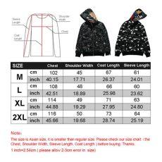 a bathing ape bape camouflage coat shark zip jacket hoodie sweatshirt ebay - Bape Shark Hoodie Size Chart