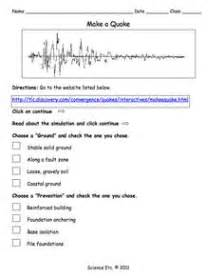 exploring plate tectonics worksheet lesson planet 6th grade