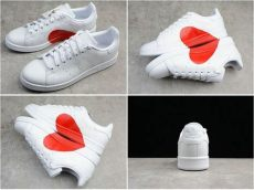 adidas stan smith couple shoes size 44 popular adidas stan smith white valentines day limit shoes