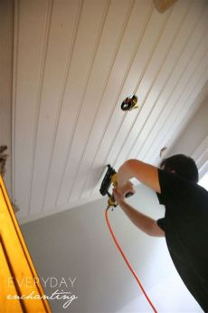 inexpensive basement ceiling treatments diy beadboard ceiling diy kitchen lighting cheap home decor diy on a budget