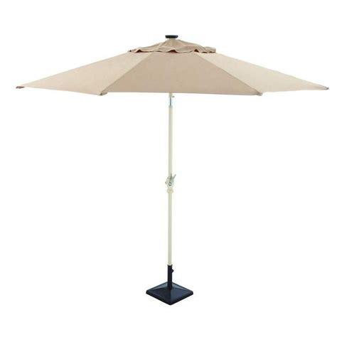 hton bay 9 ft solar powered patio umbrella