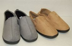 mens haband plush brown moccasin slip on comfort slippers sz 12 ebay - Haband Mens Slippers