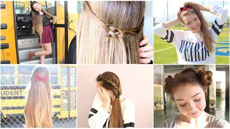 5 quick easy school heatless hairstyles youtube