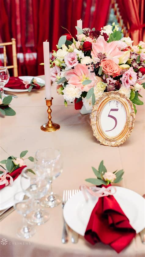 pin red wedding decorations