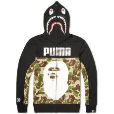 puma x bape shark hoodie black camo x bape shark hoody abc camo
