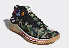 bape x adidas shoes 2018 bape x adidas dame 4 detailed look ap9974 ap9975 detailed look sneakernews