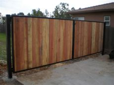 metal frame for wooden fence twisted metal of sacramento